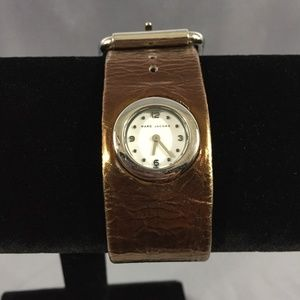 Marc by Marc Jacobs bronze buckle cuff watch